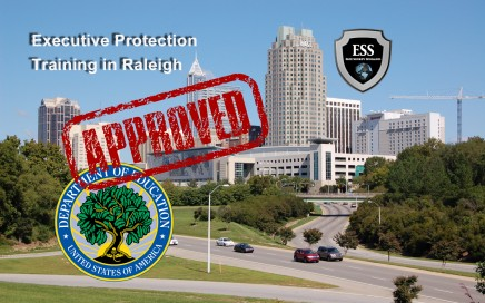 Executive Protection Training in Raleigh - D.O.E Approved