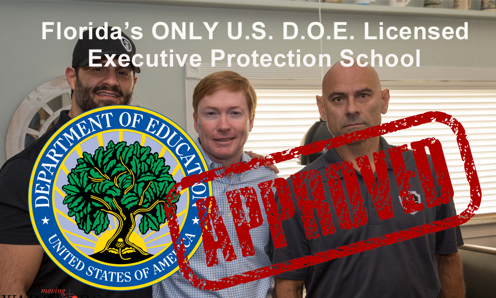 executive Protection training - the only D.O.E. Certified executive protection school in the state of Florida
