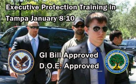 Executive Protection Training in Tampa January 8 - 10