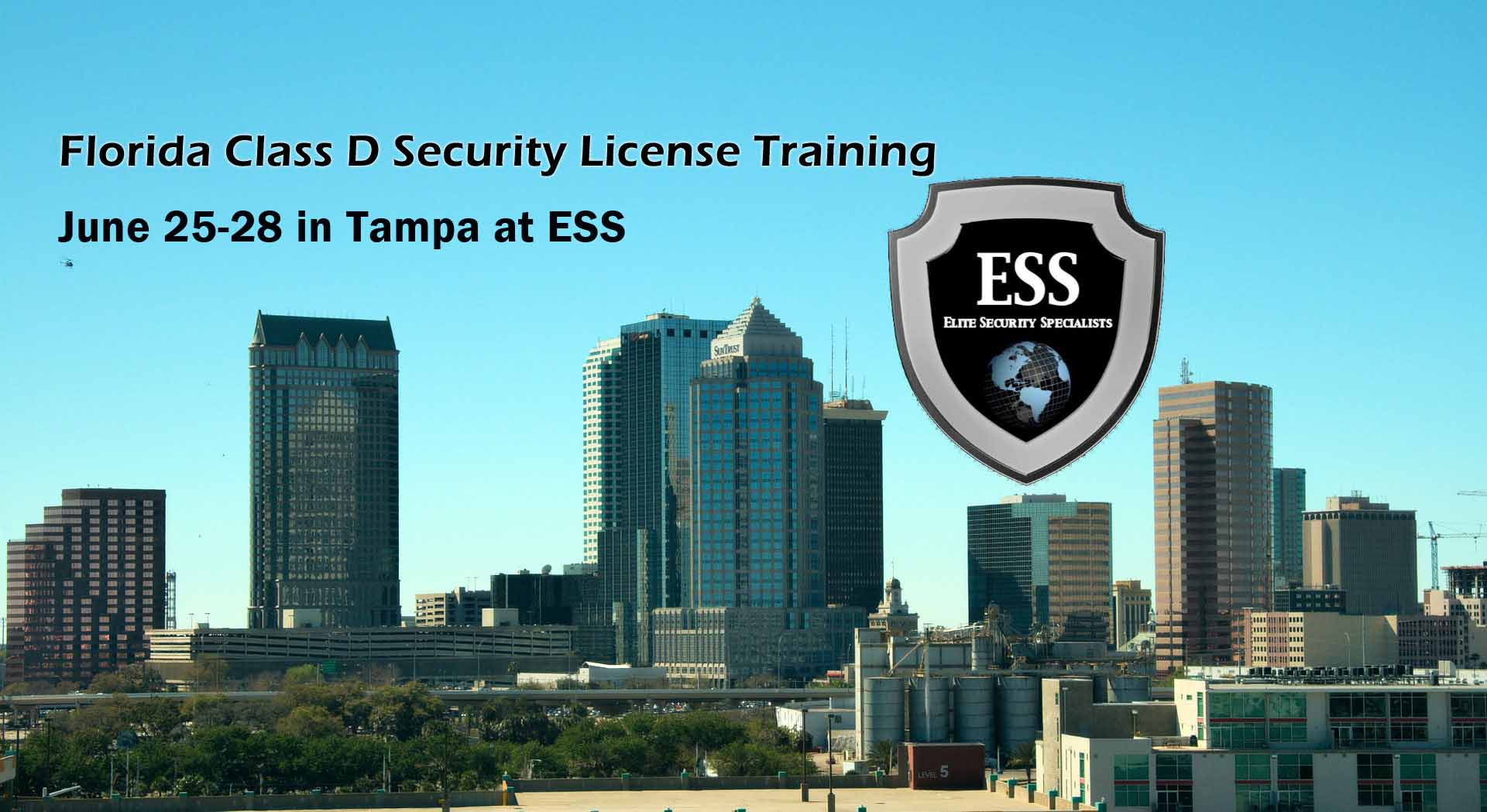 upcoming events at ess - Class D Security training june 25-28
