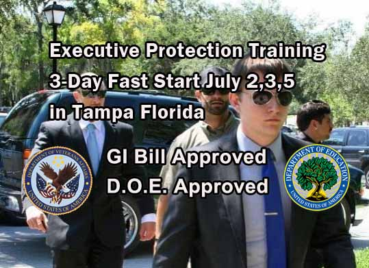 upcoming events at ess - 3 Day Fast Start Executive Protection Training July 2.3