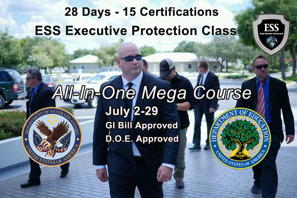 executive protection training aooroved by the VA to accept GI bill benefits