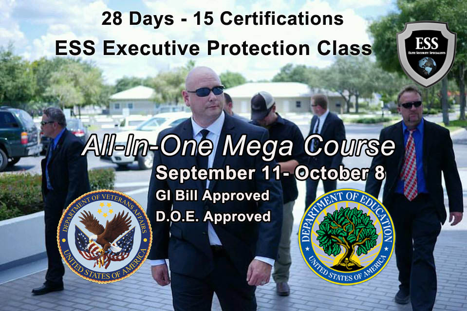 All in One Executive Protection Training in Tampa September 11 - October 8