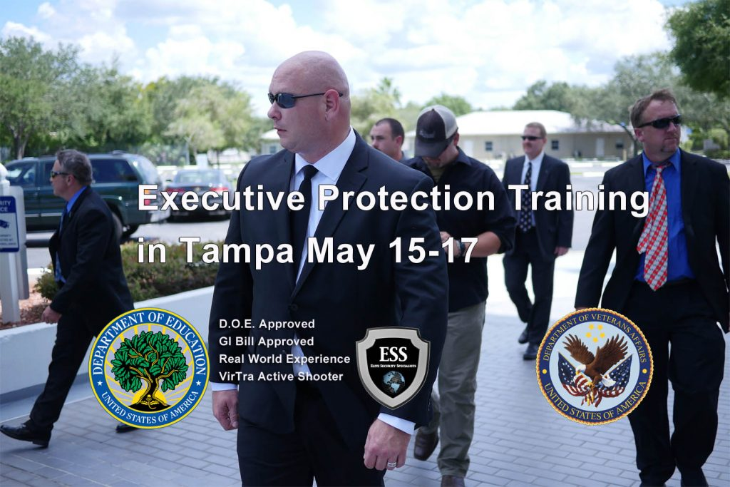 Executive Protection Training in Tampa May 15-17