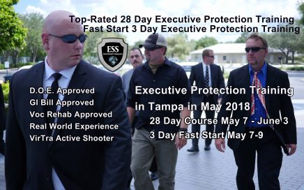 Executive Protection Training in Tampa May 7-9