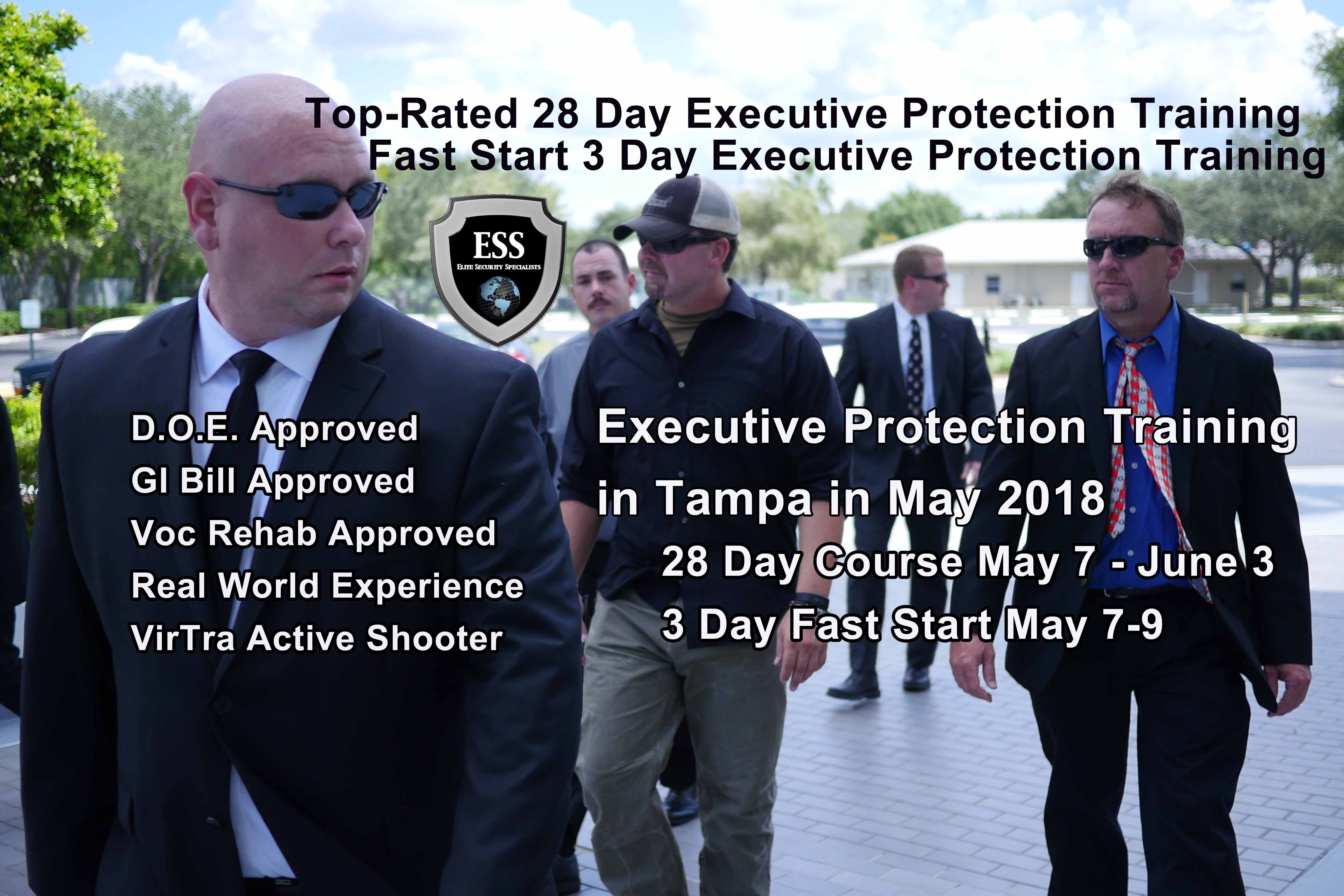 Executive Protection Training In Tampa May 7 9 Florida S