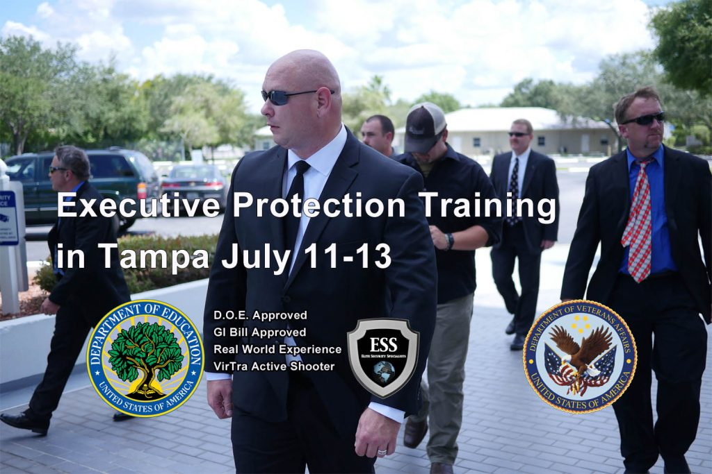 Executive Protection Training July 11-13 in Tampa