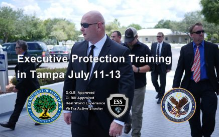 Executive Protection Training in Tampa July 11-13