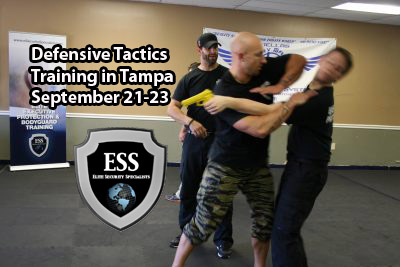 defensive tactics training in tampa September 21-23 at ESS
