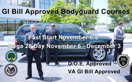 GI Bill Approved Bodyguard Courses November