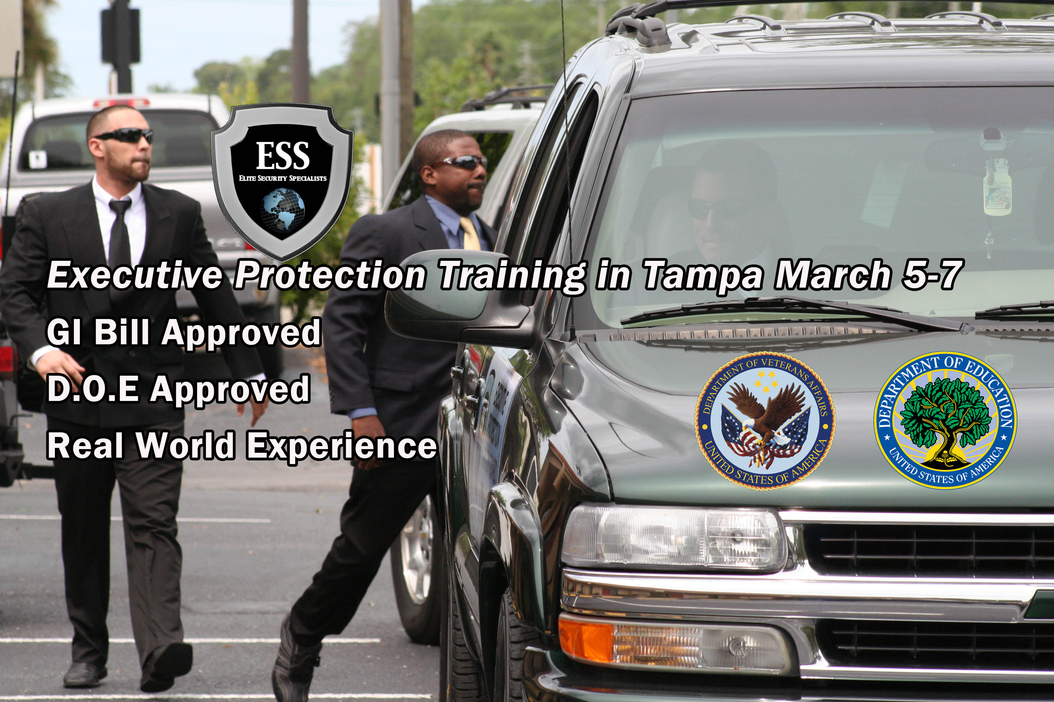 GI Bill Approved Executive Protection Training March 5-7