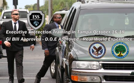 GI Bill Approved Executive Protection Training in Tampa October 16-18