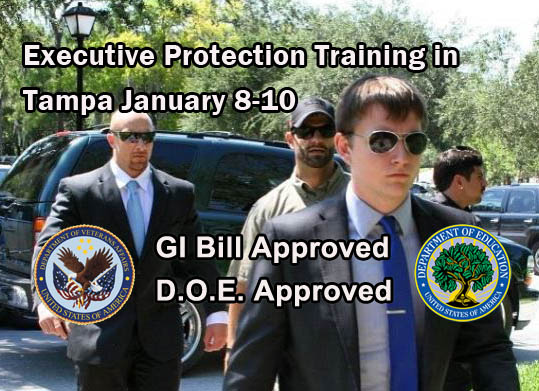 Executive Protection Training in Florida January 8-10