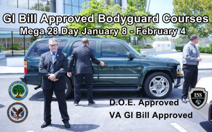 GI Bill Approved Bodyguard Training January 8th - February 4th