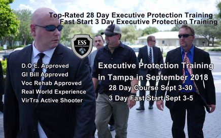 Florida Bodyguard Training September 2018