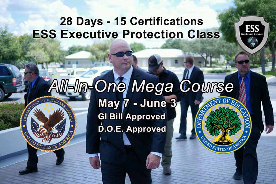 Florida Bodyguard Training in Tampa - All In One 2018