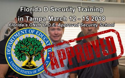 Florida D Security Class in Tampa March 12-15 at ESS Global