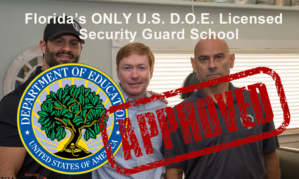 Class G Security License in Tampa May 18-20 at Floridas only DOE Security Guard School