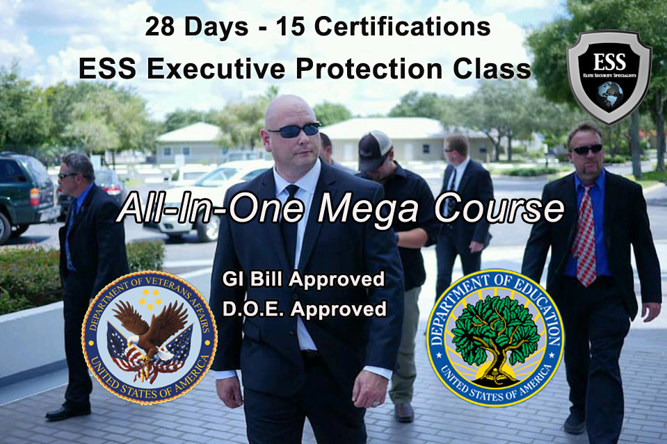 GI Bill Approved Executive Protection Training - South Carolina All-In-One Mega Executive Protection Classes