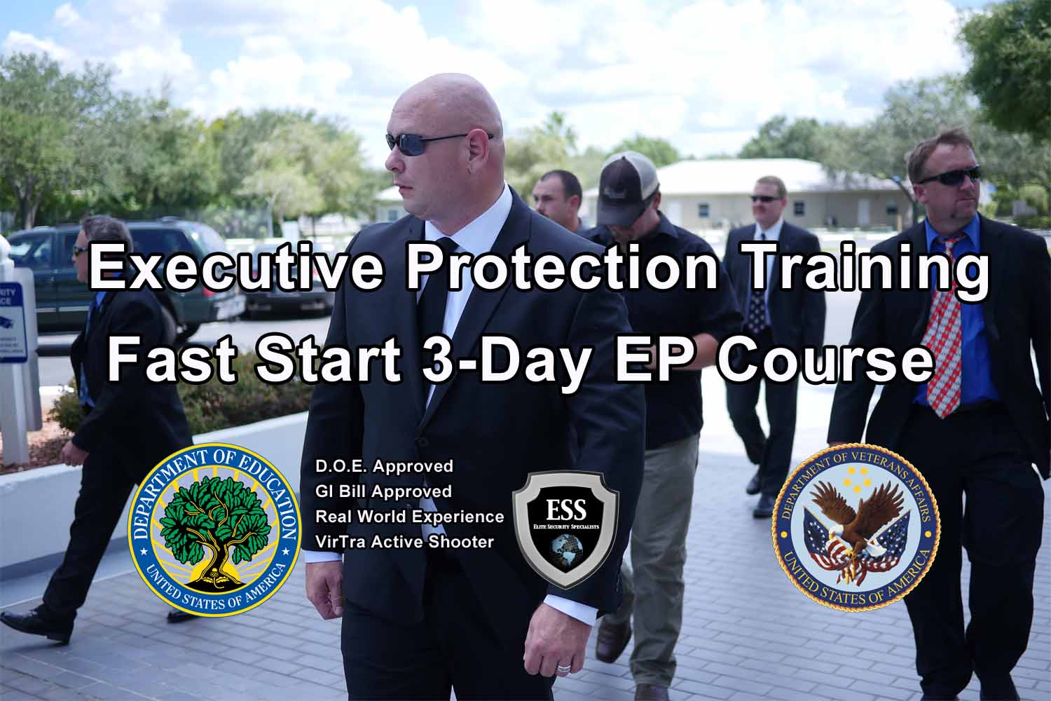 GI Bill Approved Executive Protection Training - South Carolina - 3 Day Fast Start