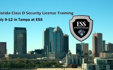 Class D Security Training in Tampa July