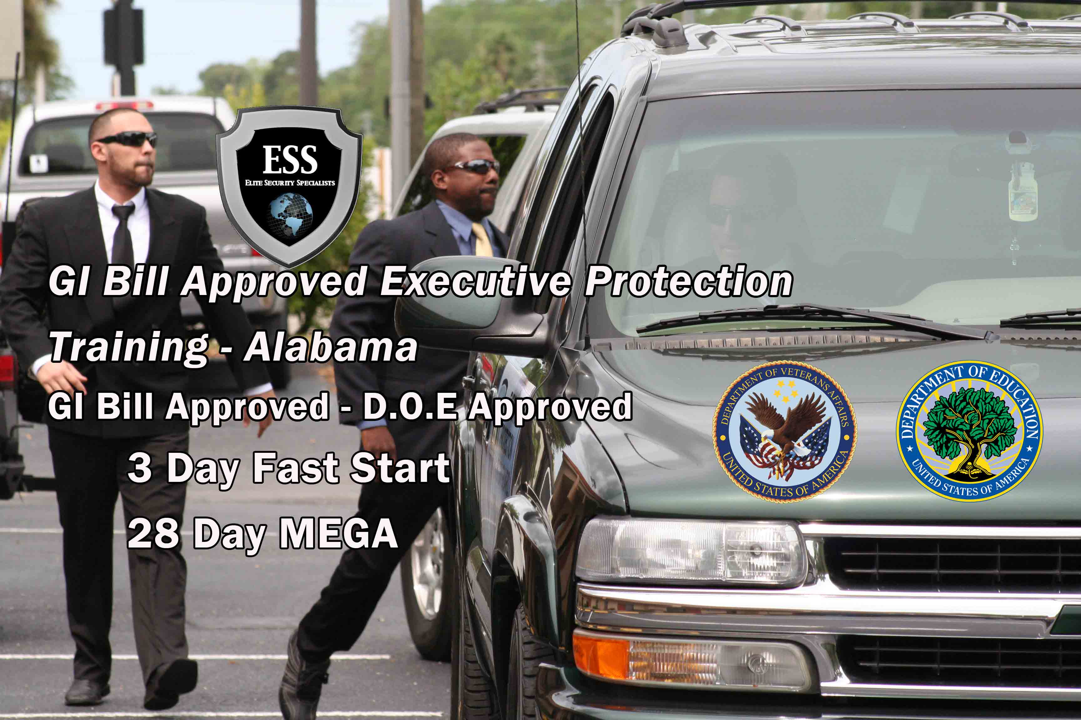 GI Bill Approved Bodyguard Training - Alabama