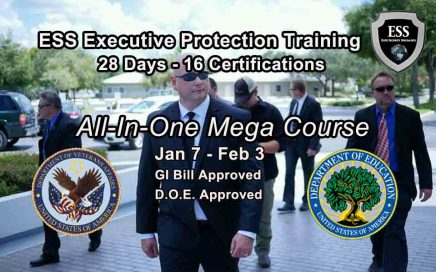 GI Bill Approved Executive Protection Training Jan 2019