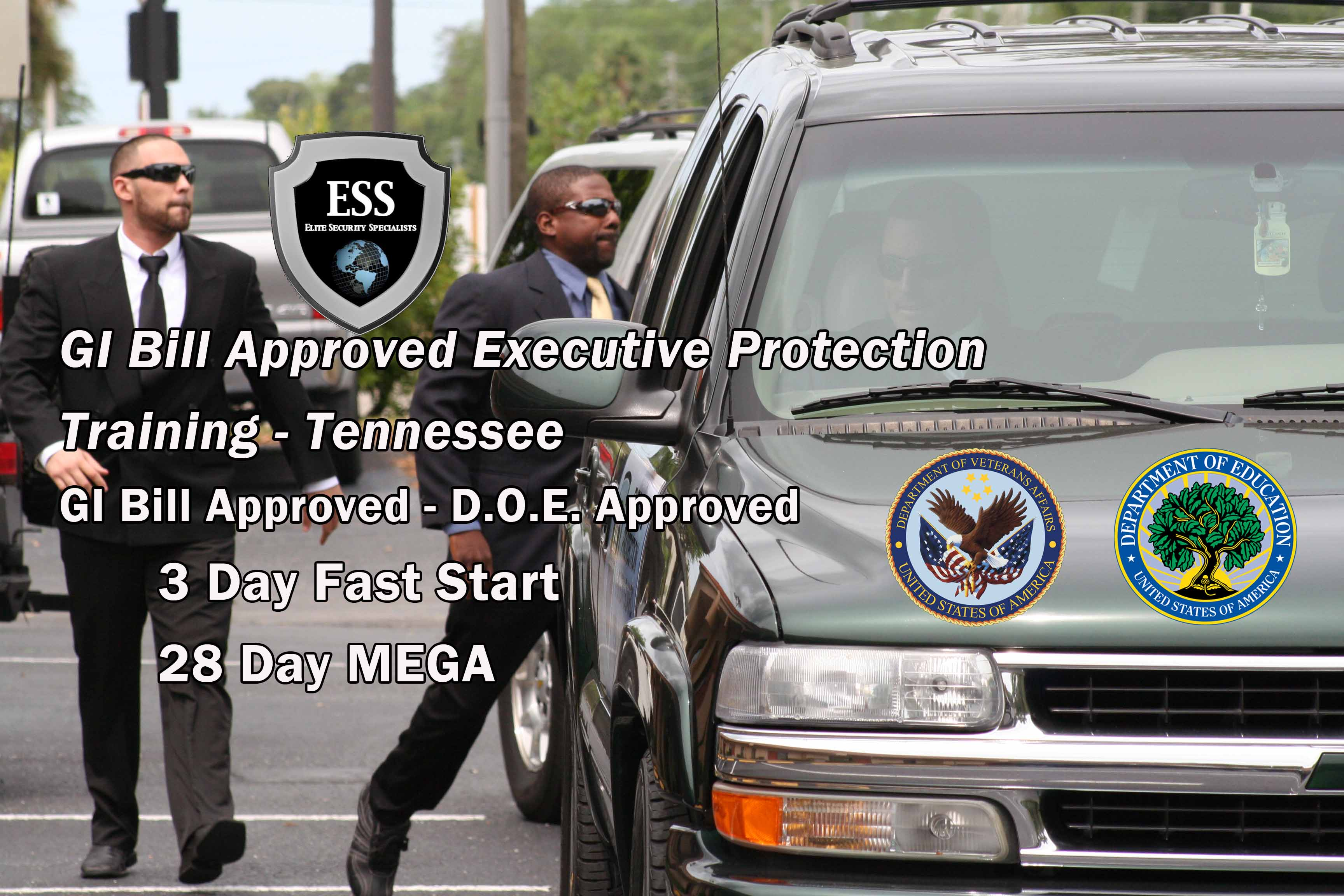 GI Bill Approved Executive Protection Training - Tennessee