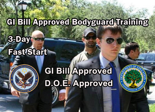GI Bill Approved Bodyguard Training - West Virginia 3 Day Fast Start