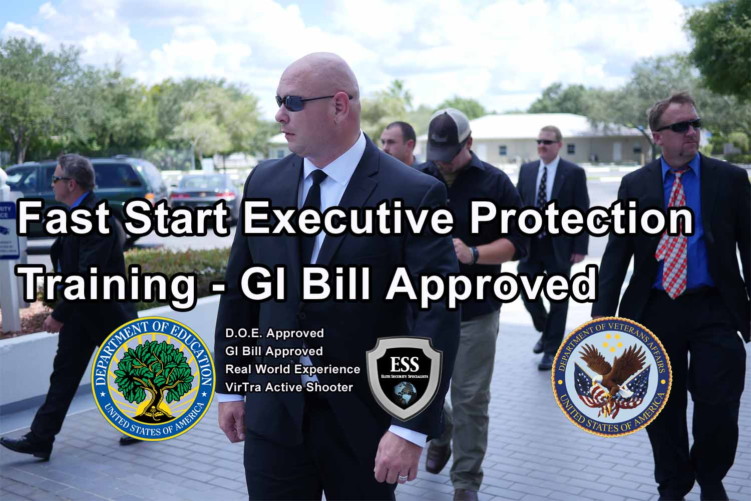 GI Bill Approved Bodyguard Training - Arkansas 3 day