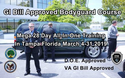 GI Bill Approved Bodyguard Training March 2019