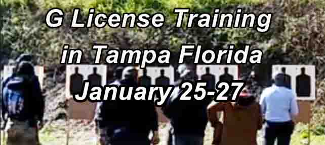 Class G Security License Training in Tampa JAN Range