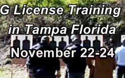 Florida G License Training in Tampa NOVEMBER