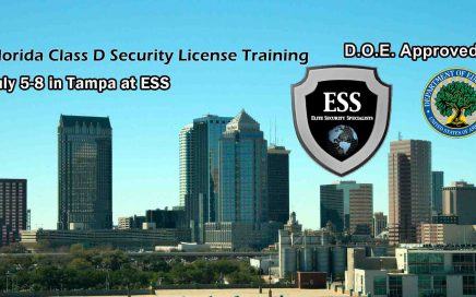 Florida D Security License Training in Tampa July 5-8
