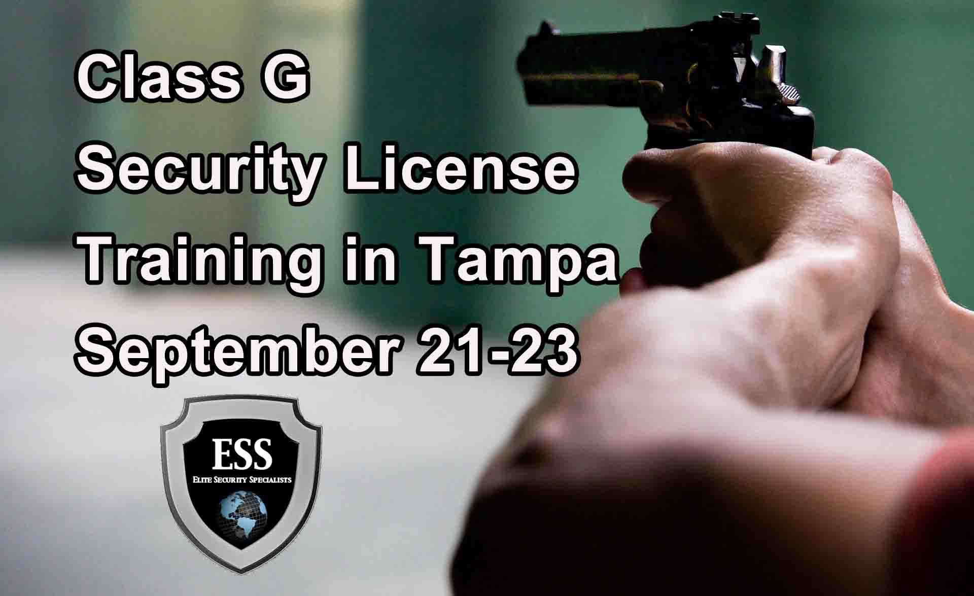 Class G Security Licence Training Tampa Florida S Only
