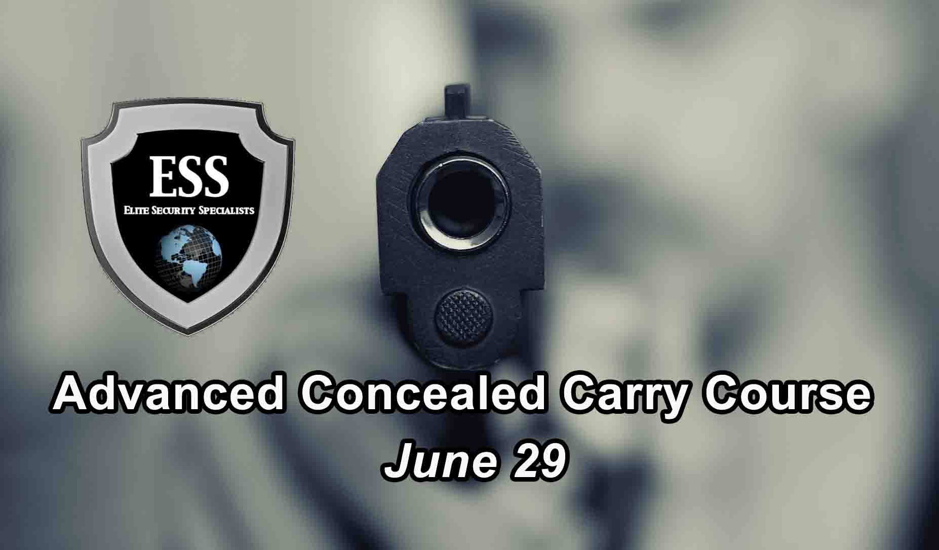 Advanced Concealed Carry Training in Tampa June 29