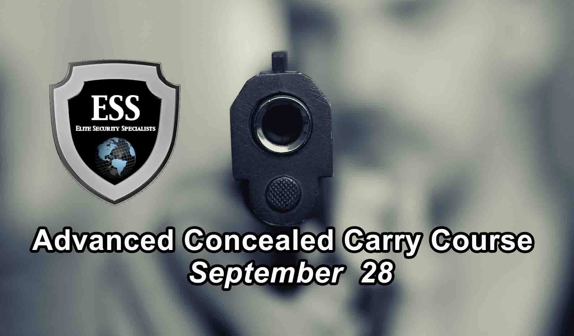Advanced Concealed Carry Course SEPT
