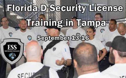 Florida D Security License Training in Tampa 2 SEPT