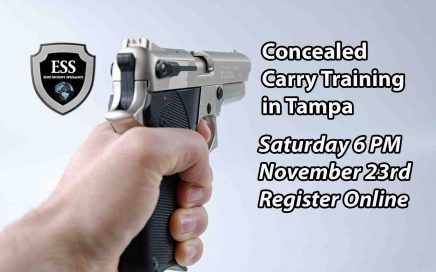 Tampa Concealed Carry Training Saturday NOV 23 6PM