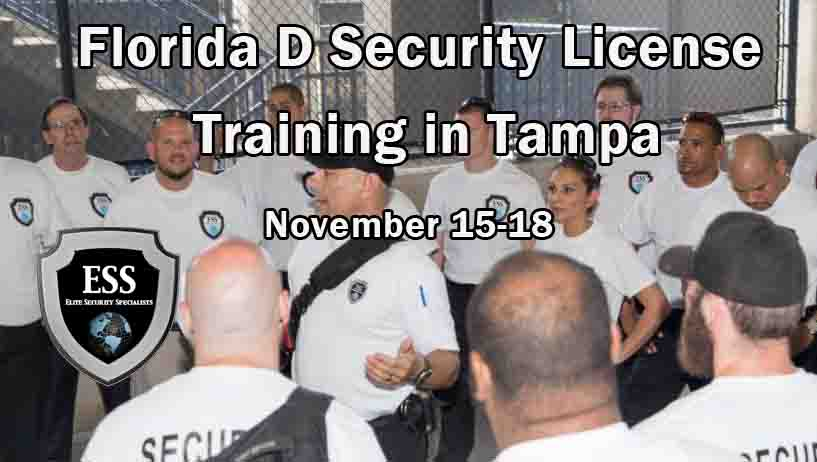lorida D Security License Training in Tampa NOV 2019