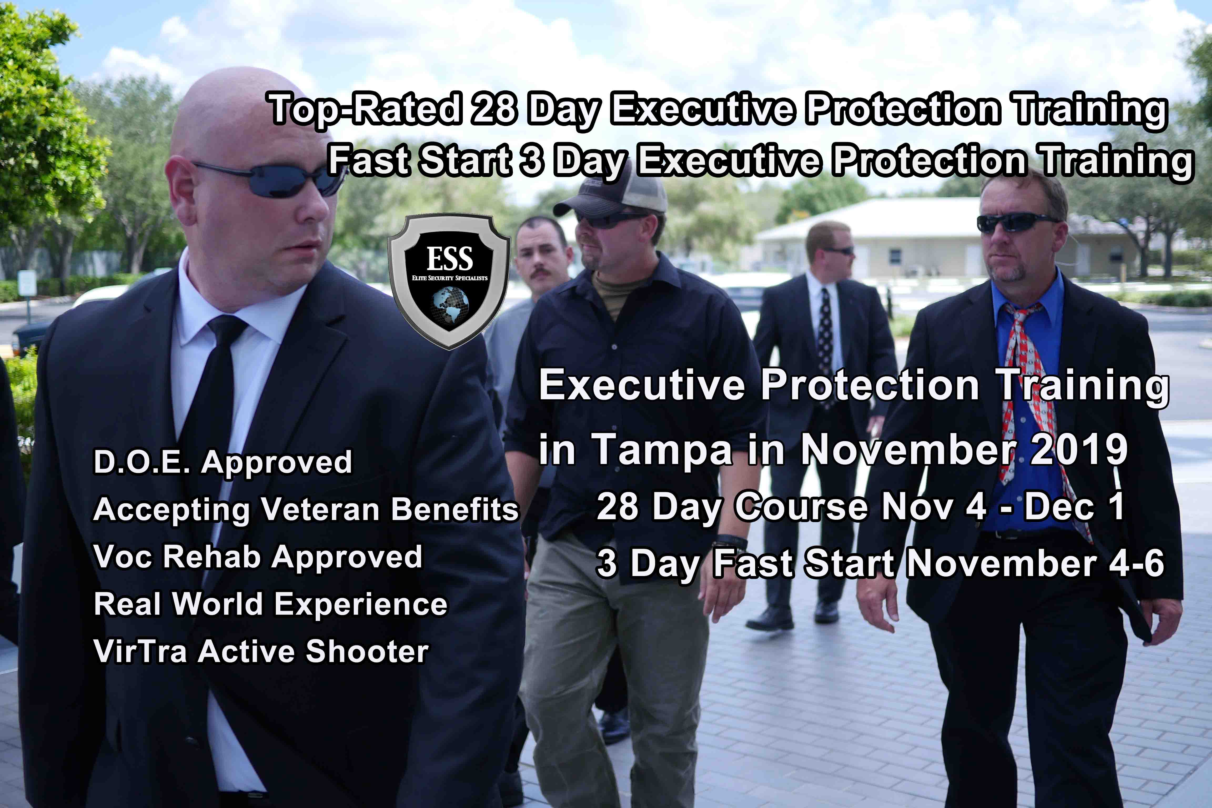 Executive Protection Training - Accepting Veteran Benefits