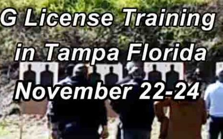 Class G Security License Training in Tampa