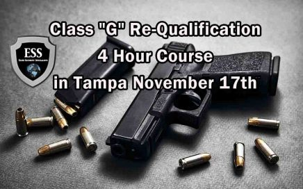 "Class ""G"" Re-Qualification 4 Hour Course in Tampa November 17th"