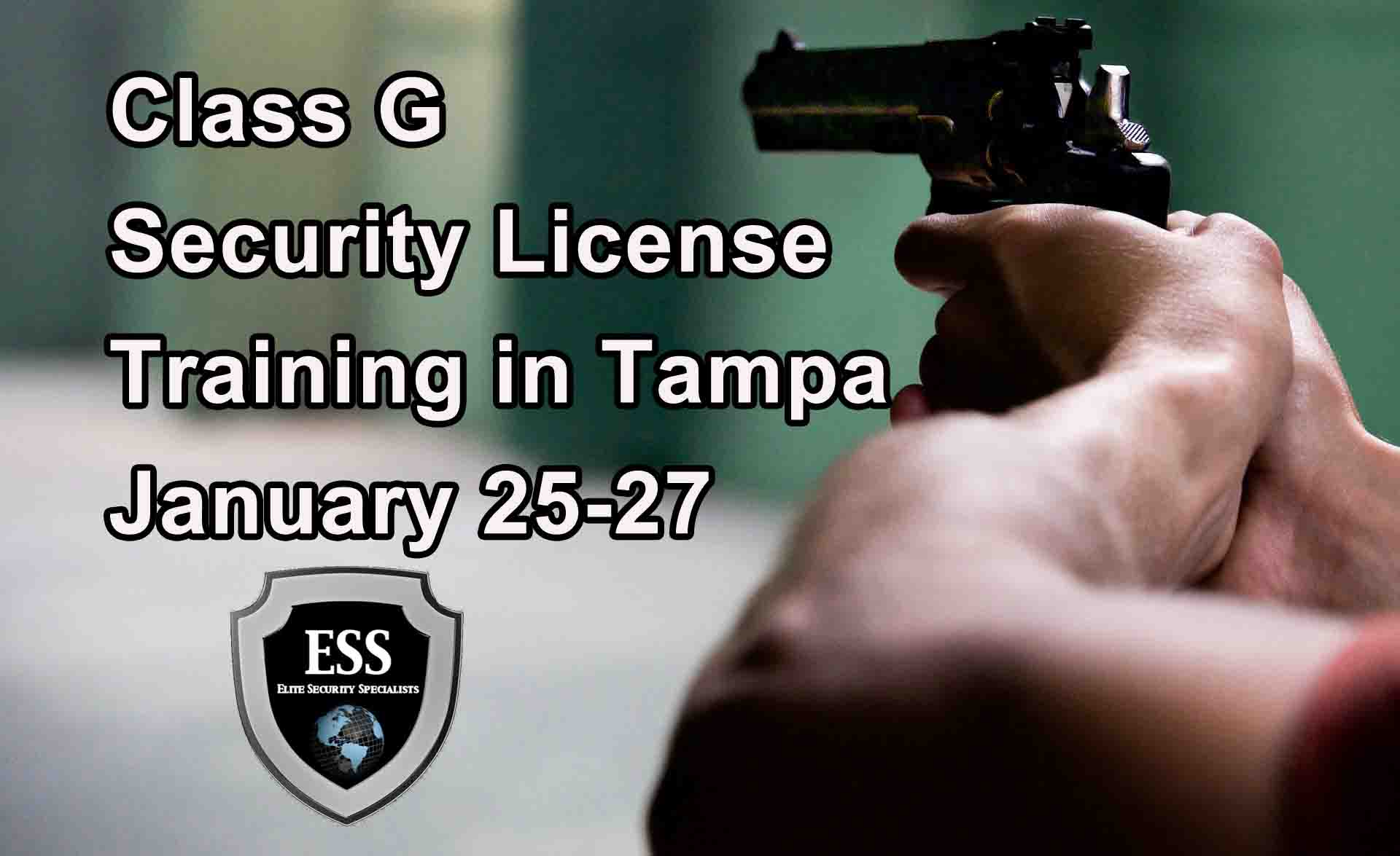 Class G Security License Training in Tampa JAN