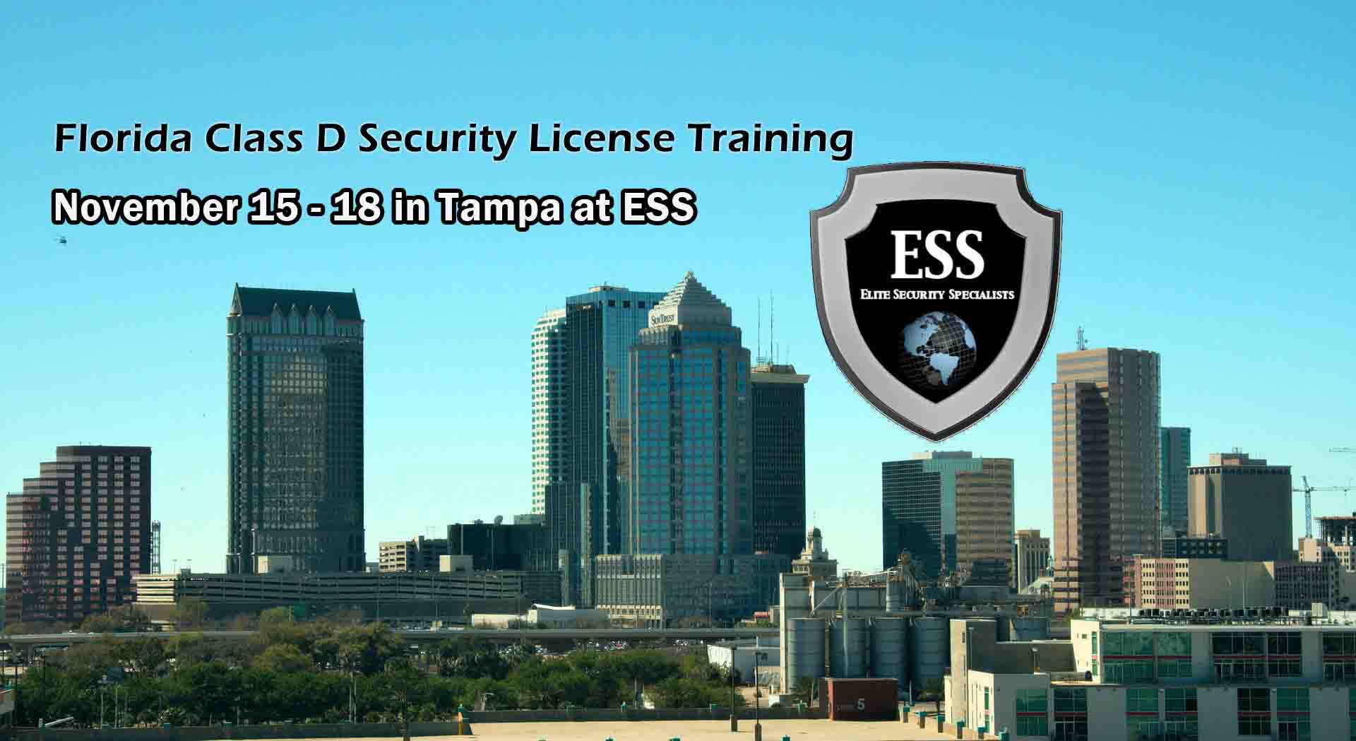 Florida D Security License Training in Tampa NOV 2019 2